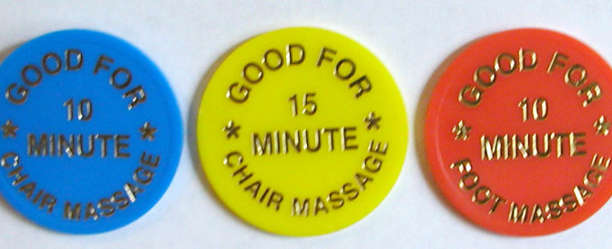 Chair Massage Tokens